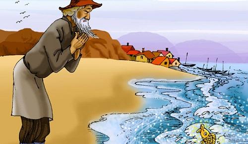 Ý nghĩa hình tượng con cá vàng truyệnÔng lão đánh cá & con cá vàng