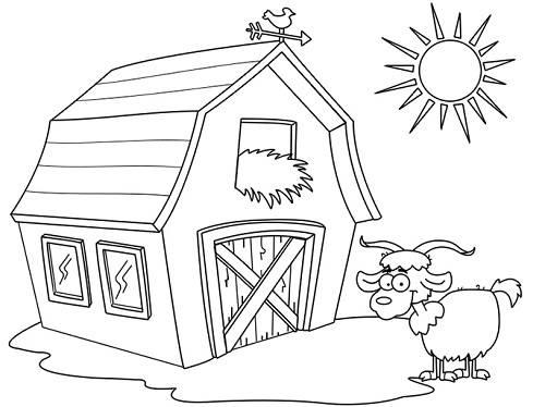 Tranh tô màu ngôi nhà dành cho bé tập tô