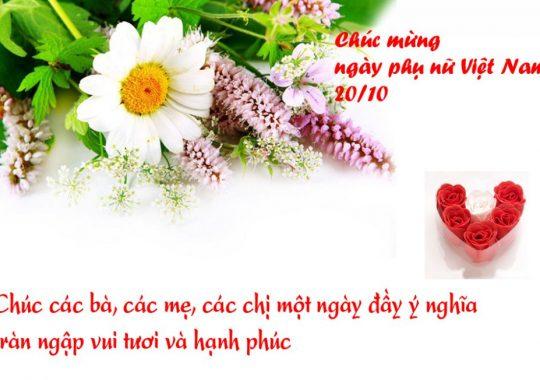 99+ Lời chúc ngày phụ nữ Việt Nam 20/10 hay và ý nghĩa nhất!