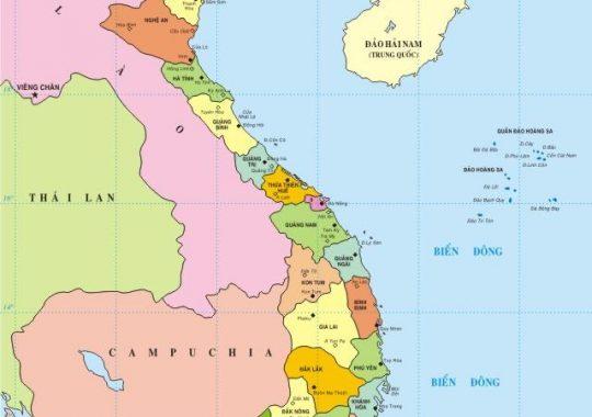 63 tỉnh thành Việt Nam-Danh sách, bản đồ, biển số, diện tích, dân số.